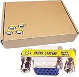 Lot-199 DB15 F/F 15-Pin VGA Gender Changer DB15FF-L199 GEN-VED