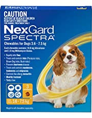 Nexgard, Flea, Tick & Worming Monthly Chew, Spectra, Dog, 3.6-7.5kg, 3pk