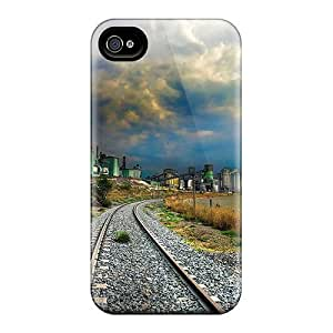 First-class Case Cover For Iphone 4/4s Dual Protection Cover Tracks By An Aboned Factory