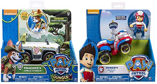 - Paw Patrol Ryder's Rescue ATV,, Jungle Rescue, Tracker's Jungle Cruiser, Vehicle & Figure Includes Blizy Pen
