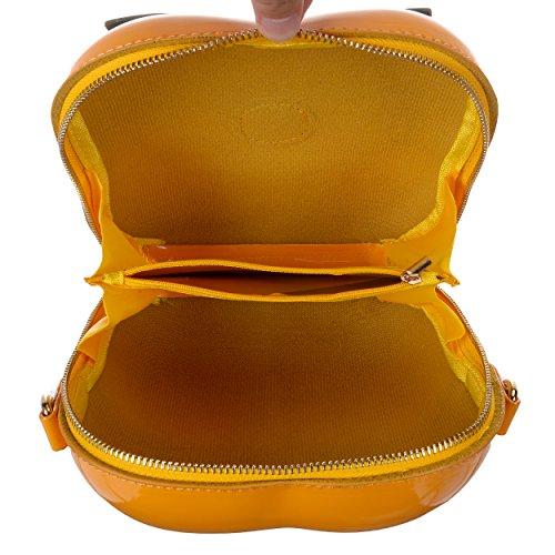 Crossbody Persimmon Yellow Bag Mini QZUnique Fruit Purse Bag Cute Bag Women's Clutch Shape Shoulder w7O80
