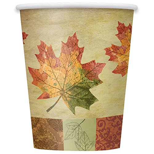 9oz Rustic Fall Party Cups, 8ct