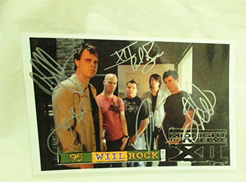 2008 Midnight to Twelve Full Band Autographed Signed Concert Flyer -