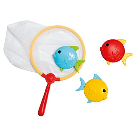 Intex - Set de pesca infantil con red de mano y 3 peces (55506)