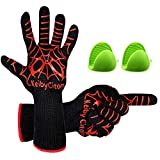 BBQ Gloves Fire Pit 932°F Heat Resistant - Fire Resistant Gloves for Barbecue