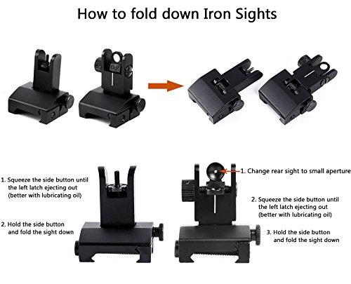 Review Ohuhu Iron Sights Flip