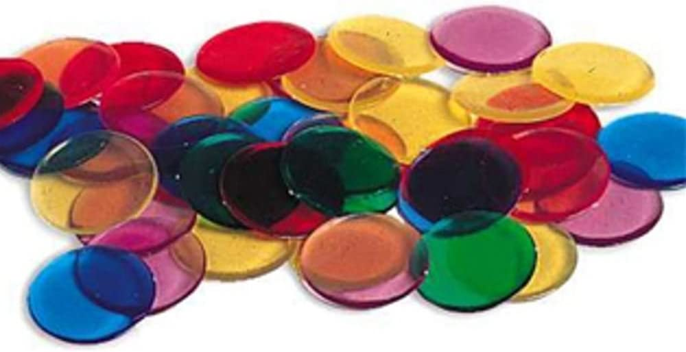 Learning Resources Transparent Color Counting Chips, Set of 250 Assorted Colored Chips, Ages 5+: Office Products