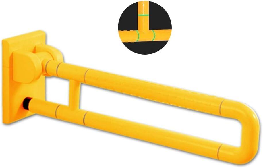 Toalleros repisa Apoyabrazos Plegable Antideslizante WC Inoxidable apoyabrazos de Acero Baño Adaptado Accesorios Luminosos apoyabrazos (Color : Yellow, Size : 20 * 13.3 * 60cm): Amazon.es: Hogar