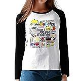 MiiyarHome Women's Long Sleeve Baseball T-Shirts Marshall Eriksen, Girls RaglanSleeves Jersey Tee Shirt Black S