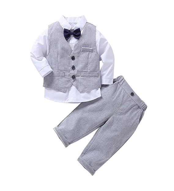 Baby Boy Gentleman Clothing Suit, Camisa de Manga Larga Boy ...