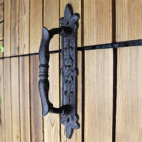 FEPDW Door Handle Retro Barn Door Pull Handle Hardware for Wooden Garden Gate Shed Cabinet Door for Garages Sheds…