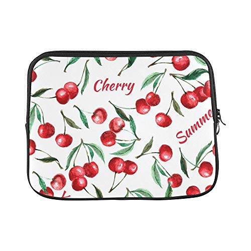 Design Custom Berry Cherry Leaves Sleeve Soft Laptop Case Bag Pouch Skin for Air 11