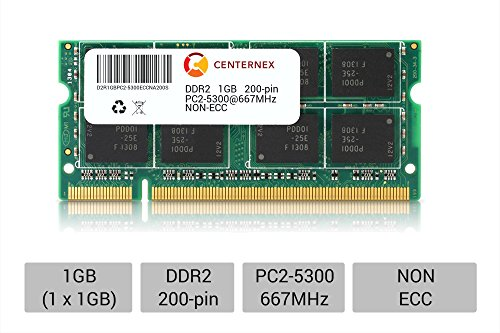 1gb Acer Laptop 200 Pin (1GB SoDimm PC2-5300 5300 DDR2 DDR-2 667mhz 667 Laptop 200-pin Memory RAM by CENTERNEX)