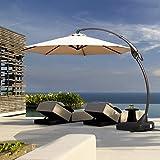 Grand patio Deluxe Napoli 11 FT Curvy Aluminum