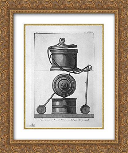 Giovanni Battista Piranesi 2X Matted 20x24 Gold Ornate Framed Art Print 'Vases and toiletries, Found in Pompeii'