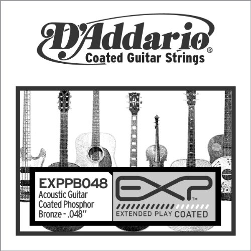 D'Addario EXPPB048 EXP Coated Phosphor Bronze Single String.048