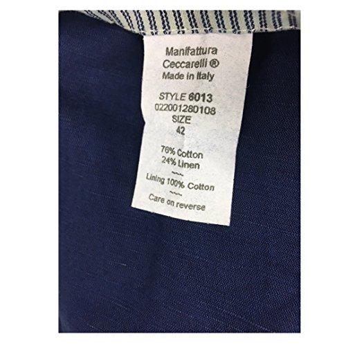Blu Uomo Mod Manifattura Ceccarelli 24 Made 6013 Sfoderata Chiaro Cotone In Lino Italy 76 Giacca EYUUxIqB