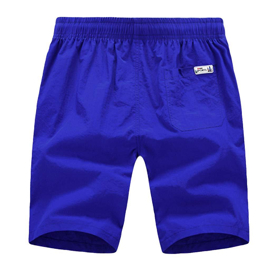 Hombre Ba/ñador Shorts Playa Natacion Pantalon Corto JiaMeng Moda Casual Pure Color Beach Pocket Surf Nataci/ón Pantalones Cortos Sueltos de Colores Vivos Talla Grande para Hombre