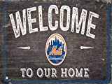 "Fan Creations New York Mets 12"" x 6"" Distressed Welcome To Our Home Wood Sign"
