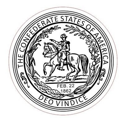 The Great Seal Of The Confederate States Of America Round Shiny Hand ()