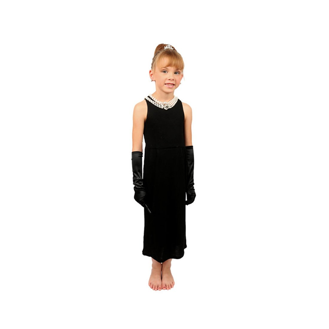Utopiat Mini Audrey Hepburn-The Girls Size Breakfast at Tiffany's Complete Costume Set Dress and Accessories (M, without gift box)