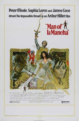 Man of La Mancha Movie Poster (27 x 40 Inches - 69cm x 102cm) (1972) -(Peter O'Toole)(Sophia Loren)(James Coco)(Harry Andrews)(John Castle)(Brian Blessed)