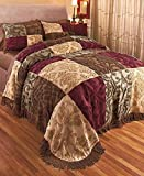 Chenille Patchwork King Bedspread (Jewel)