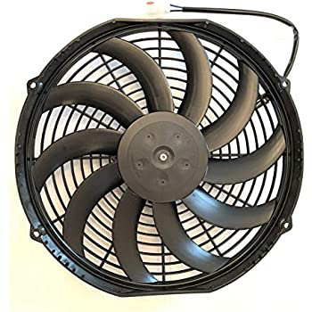 Spal 30100467 Puller Fan 12In Low Profile ; Curved Blade; For Use W// 15Amp Fuse @ 13V