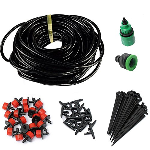 JD Million shop New 5m DIY Drip Irrigation System Automatic Plant Self Watering Garden Hose Micro Drip Garden Watering System