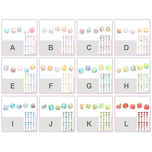 Elesa Miracle Kids Nail Stickers for Little Girl Nirl Art Decals Party Favor Pretend Play Princess J - http://coolthings.us