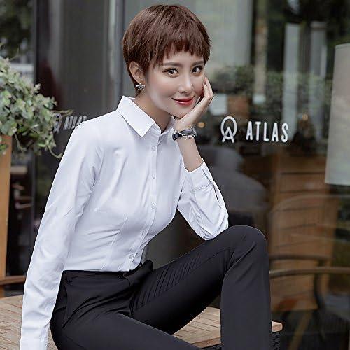XXIN Una Camisa Blanca Hembra Suelta Long-Sleeved Business Atuendo Blanco Nieve Camisas Tejidas S: Amazon.es: Deportes y aire libre