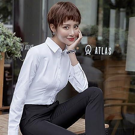 XXIN Una Camisa Blanca Hembra Suelta Long-Sleeved Business ...