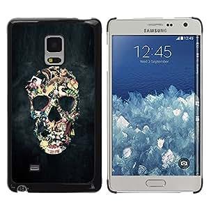 Paccase / SLIM PC / Aliminium Casa Carcasa Funda Case Cover - Smoke Abstract Black Skull Fog Art - Samsung Galaxy Mega 5.8 9150 9152