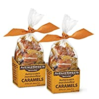 AvenueSweets - Handcrafted Individually Wrapped Soft Caramels - 2 x 5.2 oz Boxes...