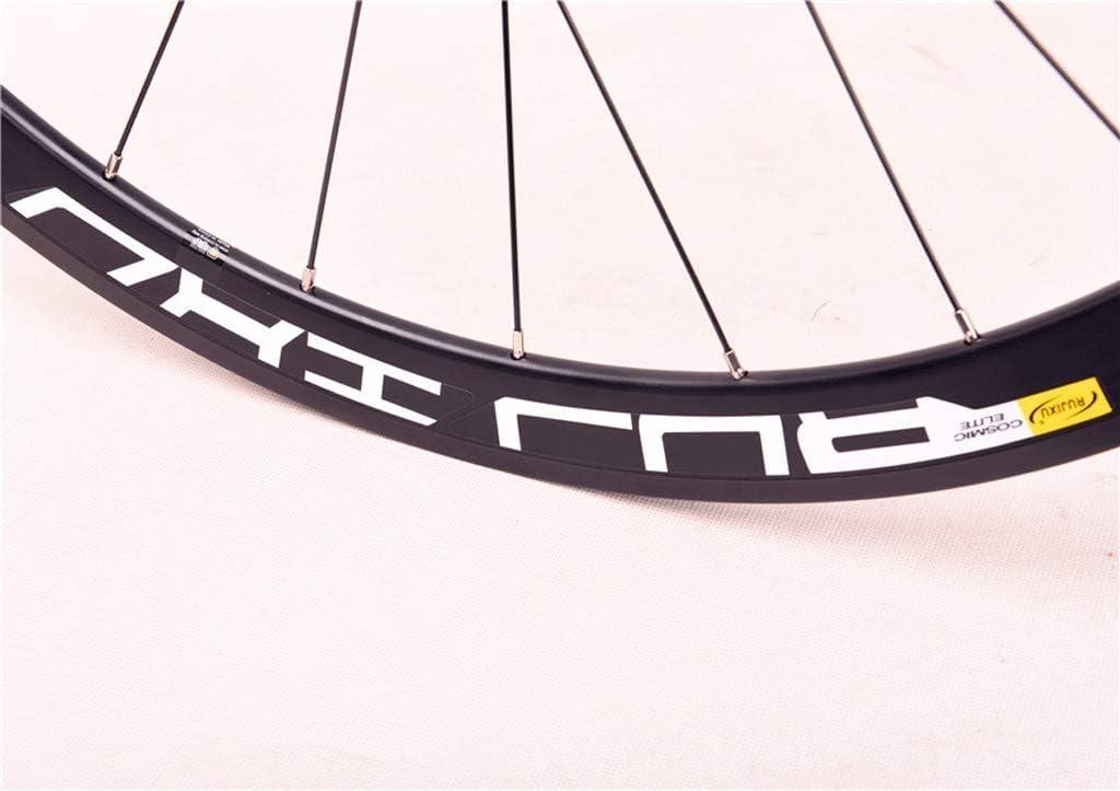 MZPWJD Juego Ruedas Bicicleta Carretera 700C Llanta Bicicleta Doble Pared 40mm 8-11 Velocidad Freno Llanta Fibra Carbon Casete Cubo Rodamiento Sellado QR