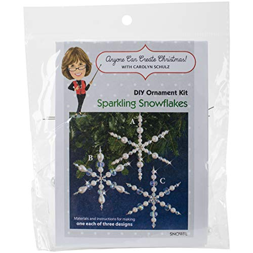 Beaded Ornaments Snowflake (Solid Oak SNOWFL Holiday Beaded Ornament Kit, Sparkling Snowflakes Makes)