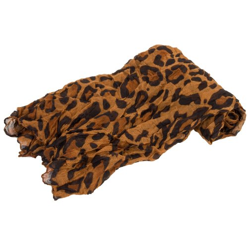 Coffee Leopard Print Lightweight Voile