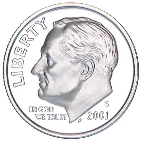 2001 S Roosevelt Silver Proof Dime PF1