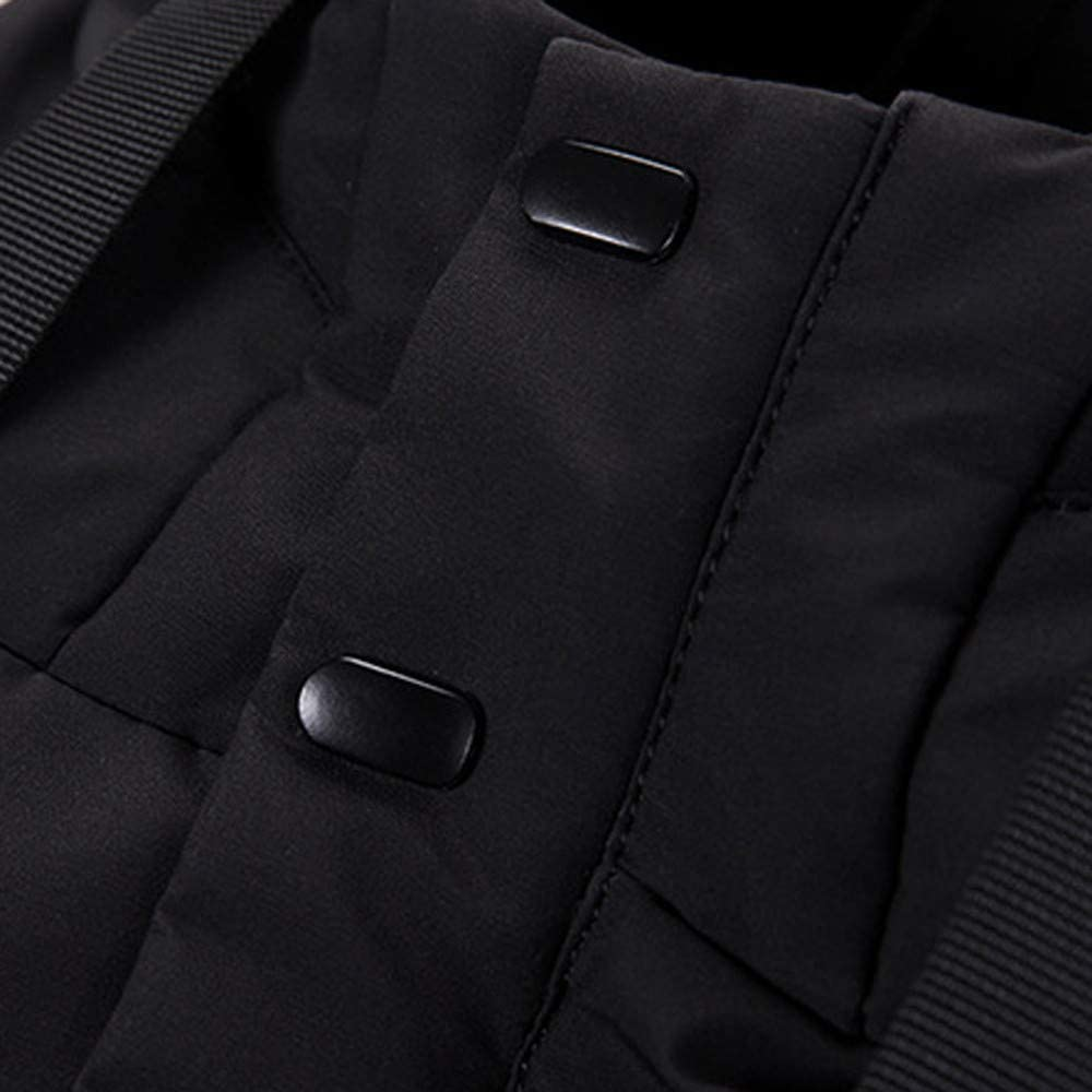 Mens Windproof Warm Hooded Thick Duck Down Mid-Long Outwear Coats Jackets