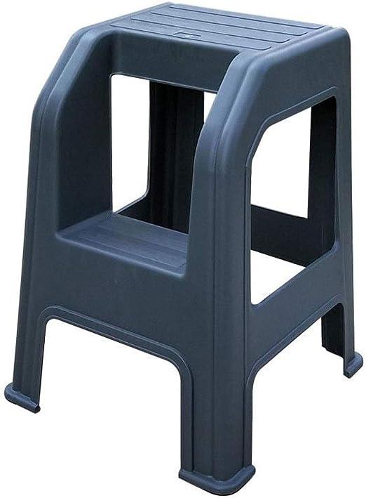 RANRANJJ Taburete de plástico de 2 pasos Escalera Artículos para el hogar Taburetes pequeños para pies