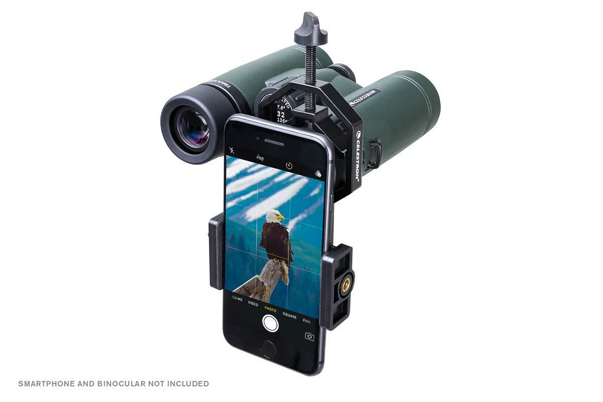 81035 Celestron Basic Smartphone Adapter 1.25 Capture Your Discoveries,Black