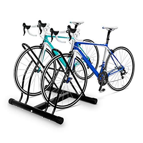 Goplus Two Bicycle Bike Stand Rack Cycling Rack Floor Storage Organizer by Goplus (Image #2)