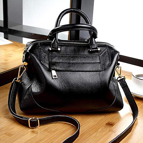 Oblique Female Bag Lady Cross Woman Hongge Cowhide Shoulder Fashion B Shell Baotan Leather wfWPpEqnz