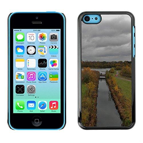 Premio Sottile Slim Cassa Custodia Case Cover Shell // F00004698 temps nuageux // Apple iPhone 5C