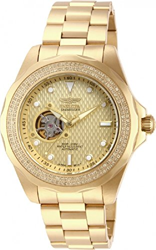 Invicta Mens Grand Pro Diver Diamond Accented Open Heart NH38A Automatic 18k GP SS Watch 15132