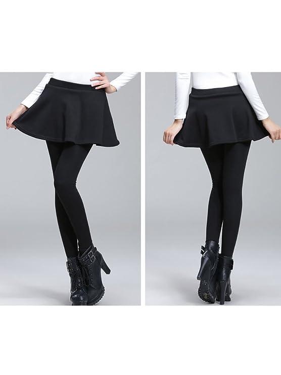 f392890424 OCHENTA Women's Thermal Winter Fleece Lined Pants Flared Skirt Leggings  Tights Black M - US 6-8: Amazon.ca: Clothing & Accessories