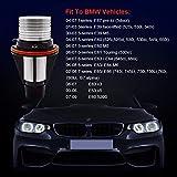 2x10W Angel Eye LED Halo Ring 10W White 6500K-7000K Lights Bulbs CREE Chip LED Marker Light