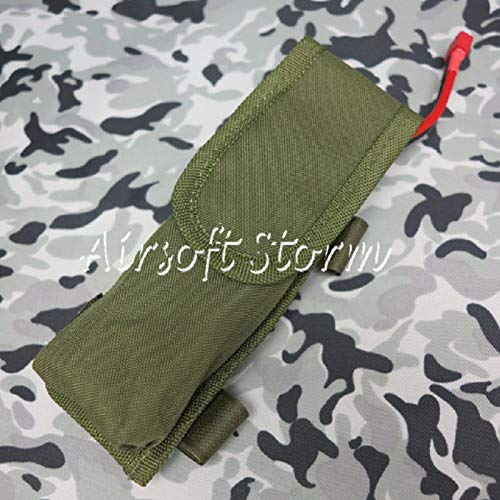 (FidgetGear Airsoft Gear AEG External Large Battery Pouch Bag Pack Olive Drab)