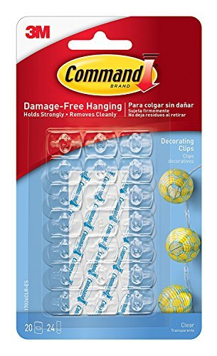 Command Decorating Clips, Clear, 55-Clip