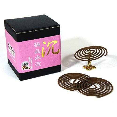 Set of Incense Coils - 2 Sandalwood + 1 Agarwood - Each 48pcs 3.5Hr + Ceramic Holder - incensecentral.us